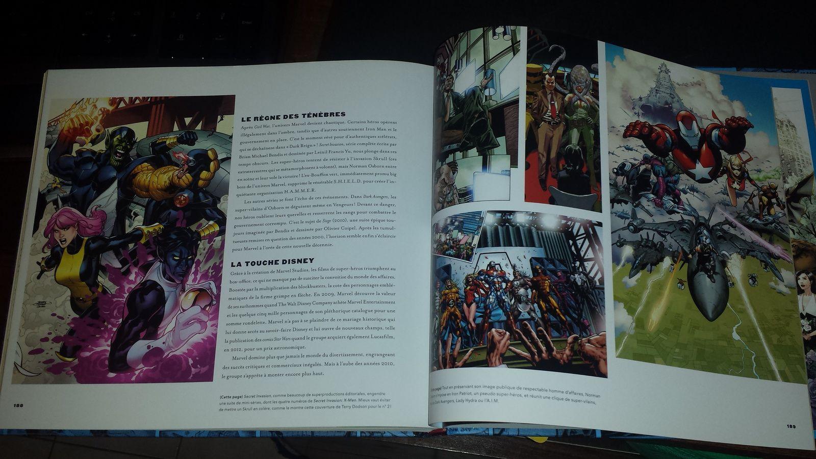 Une mise en page très chouette avec plein d'illustrations et de couvertures de comics
