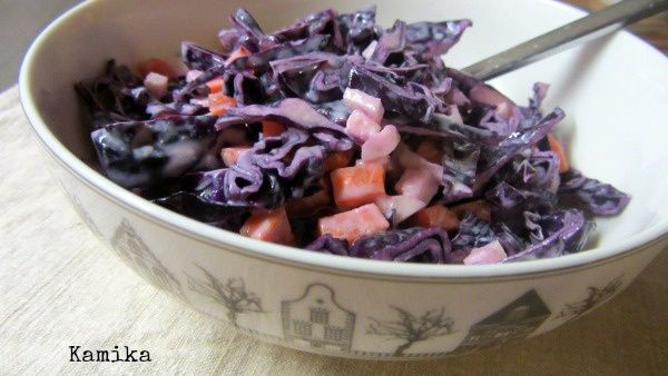 Menu du 16 février Salade croquante chou rouge