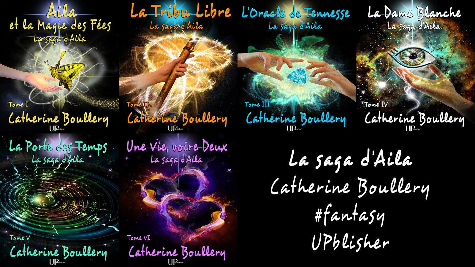 Les six premiers romans de la saga de fantasy d'Aila