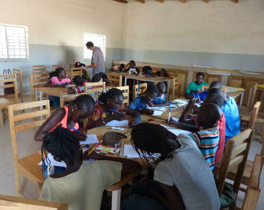 L'ensemble du groupe de correspondants sénégalais
