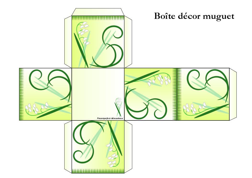 Boîte décor muguet