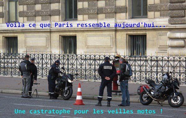 un vrai scandale pour les motards parisiens aujourd 39 hui leurs veilles motos ne sont plus. Black Bedroom Furniture Sets. Home Design Ideas