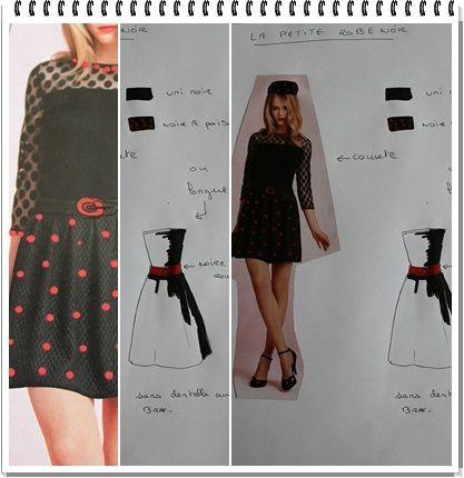 quand la petite robe noire s'orne de pois....ou devient longue