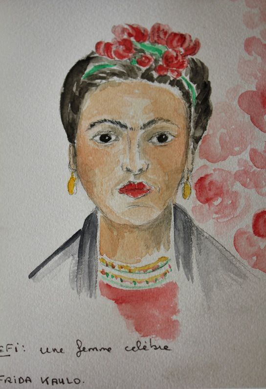 aquarelle,  frida kahlo