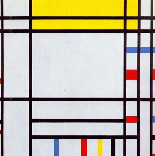 Piet Mondrian, Composition avec lignes noires, 1917