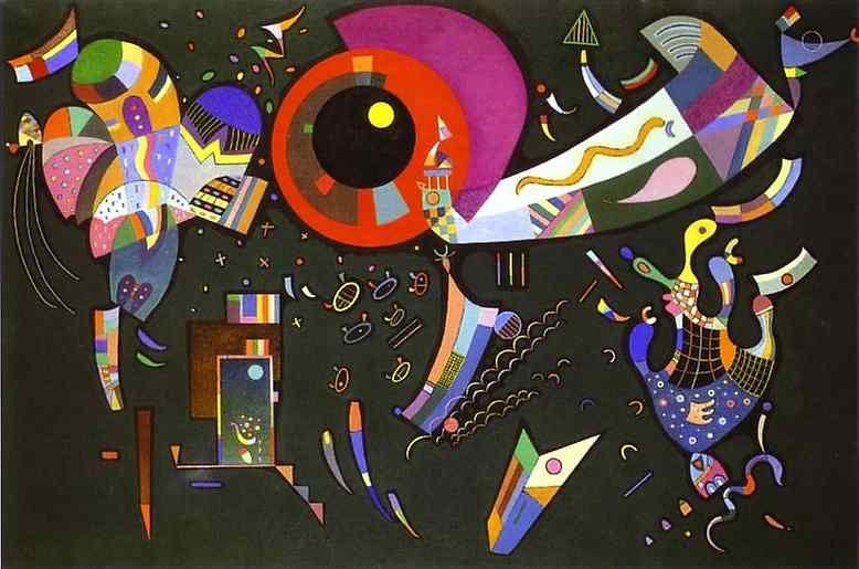 Wassily Kandinsky, Autour du cercle, Technique mixte sur toile, 96,8 x 146 cm, 1940