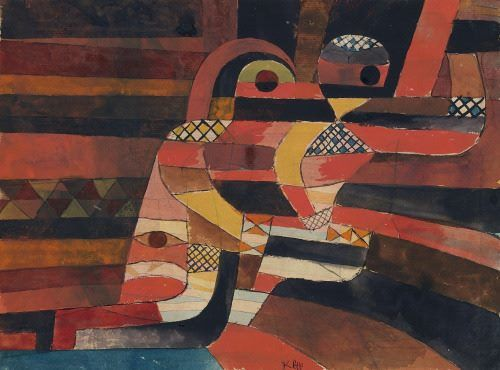 Paul Klee (Swiss, 1879-1940), The Lovers, 1920. Gouache and graphite on paper, 24.8 x 40.6 cm. The Metropolitan Museum of Art, New York.