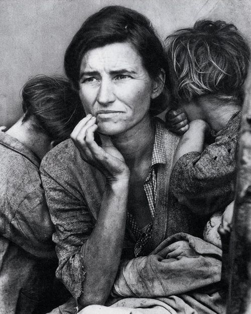 Dorothea Lange (1895-1965) Migrant Mother. 1936