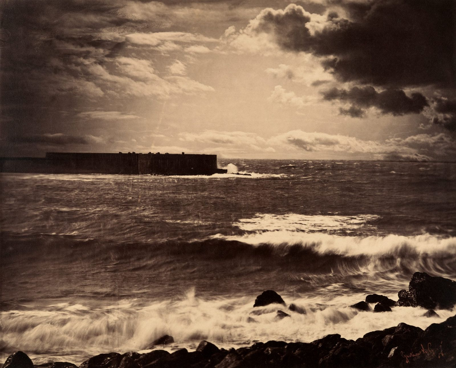 Gustave Le Gray, La grande vague Sète, 1857