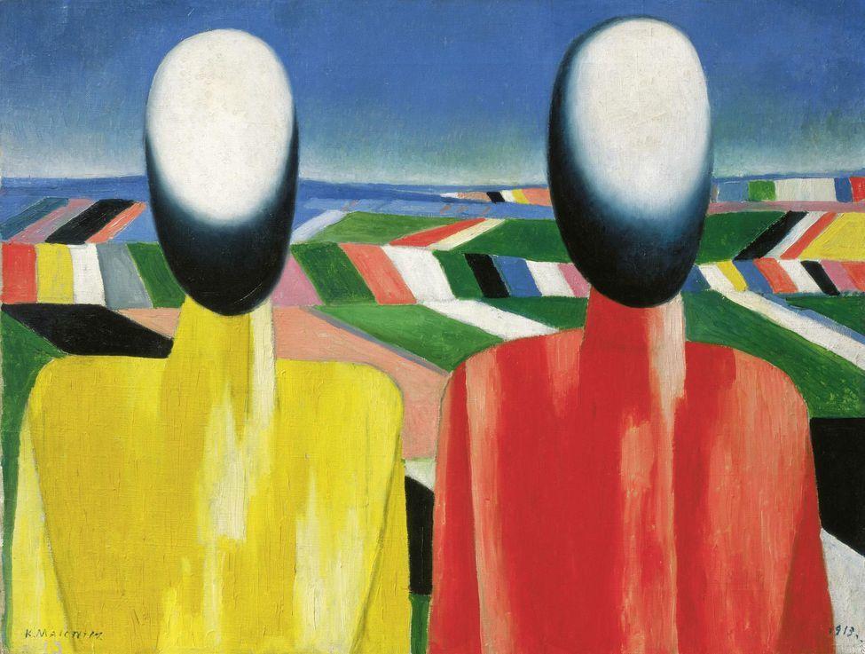 Kazimir Malevich (1878-1935), Paysans, vers 1930