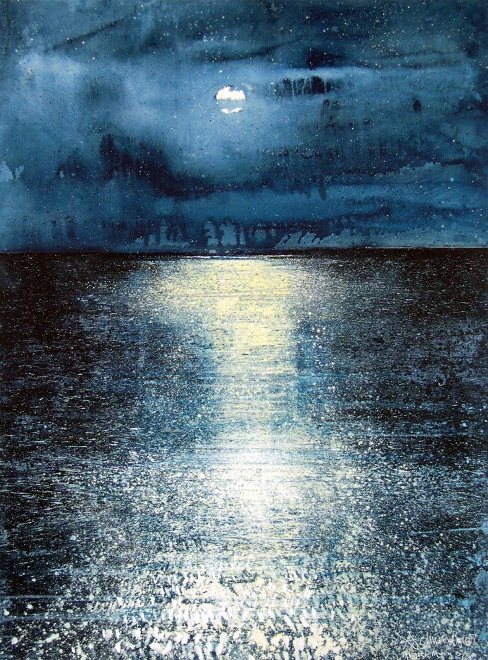 Stewart Edmondson  August Moon, 56cm x 76cm, 2012