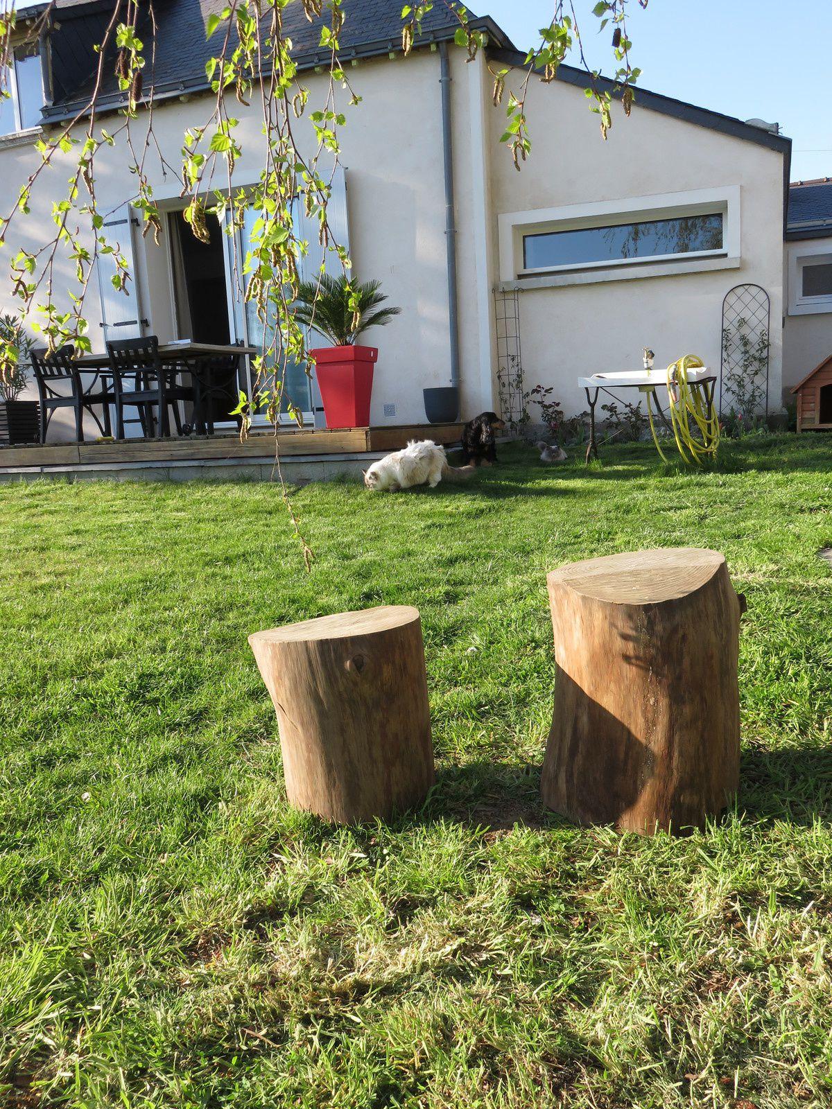 recyclage de tronc d 39 arbre 1er partie maison nanous. Black Bedroom Furniture Sets. Home Design Ideas