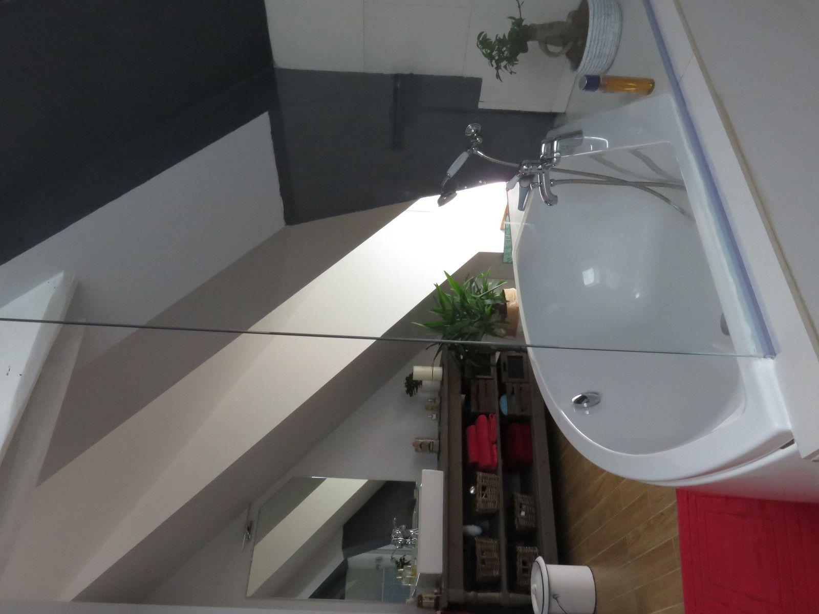 Vitre de s paration entre baignoire et douche maison nanous - Vitre pour baignoire ...