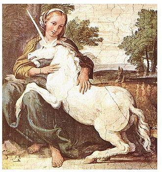 La jeune fille et la Licorne