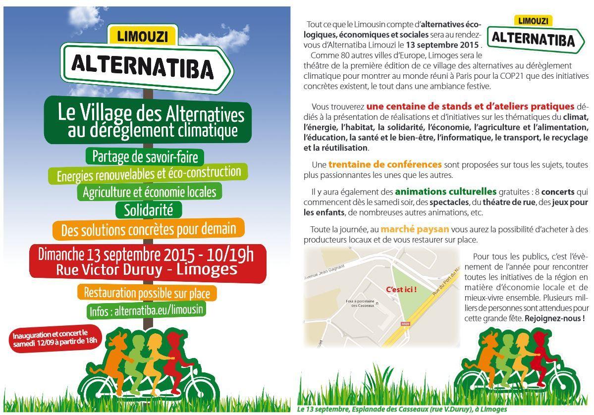 Le 13 septembre venez danser  et visiter le village Alternatiba