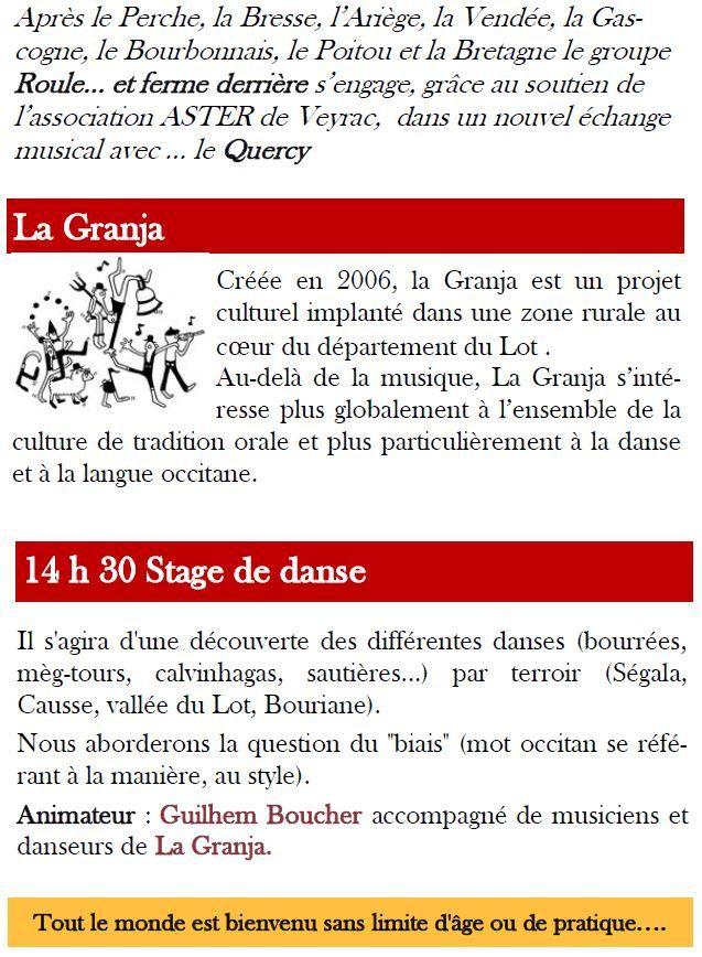 Echange 2015 avec le Quercy à Veyrac