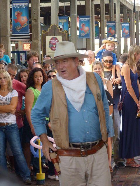 Nous avons rencontré John Wayne.