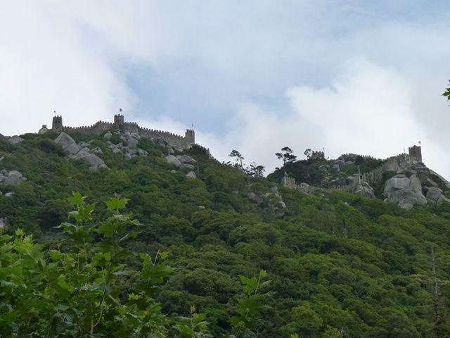 Vue sur le château des Maures (Castelo dos Mouros)