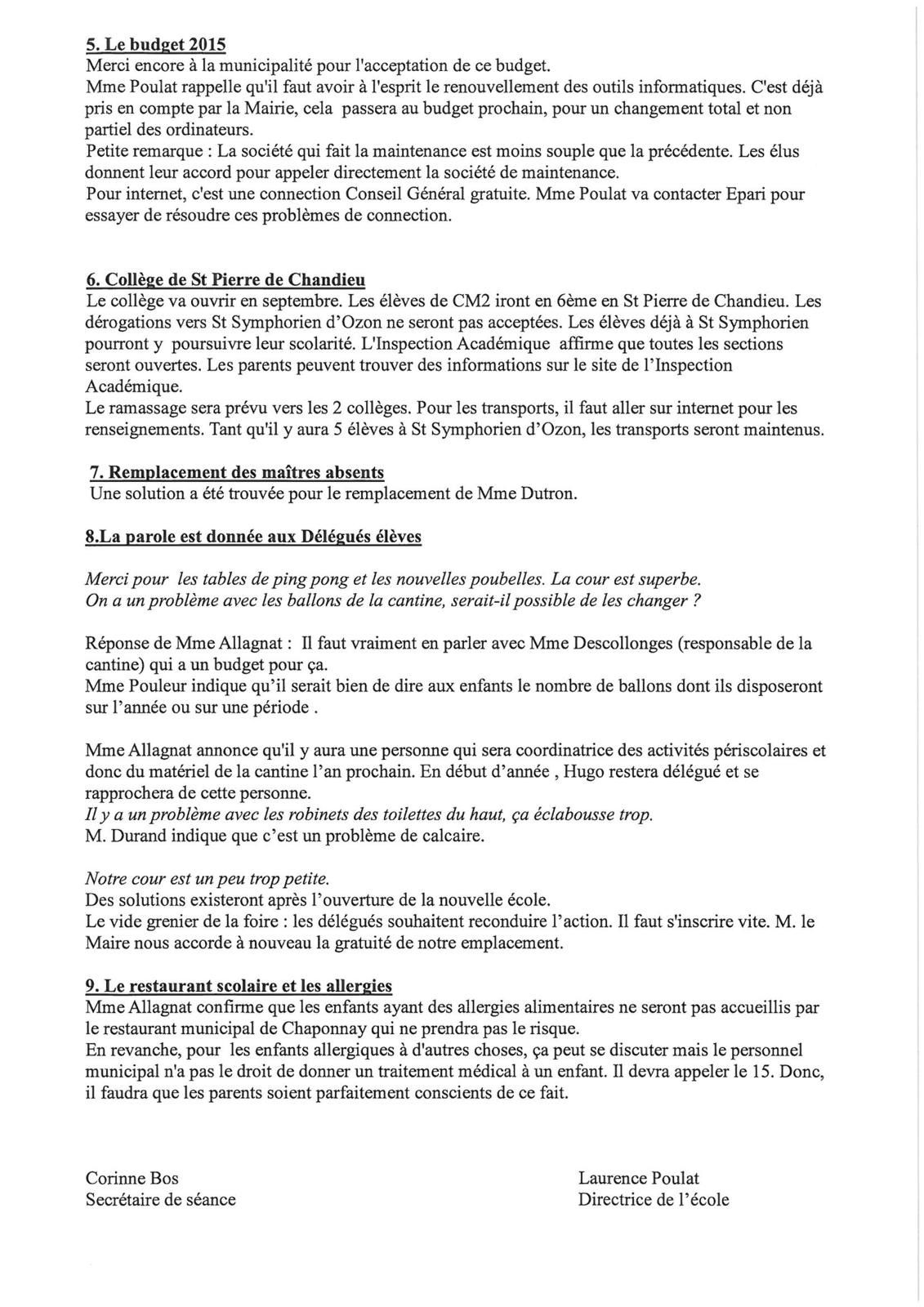 CR CONSEIL ECOLE ELEMENTAIRE Avril 2015