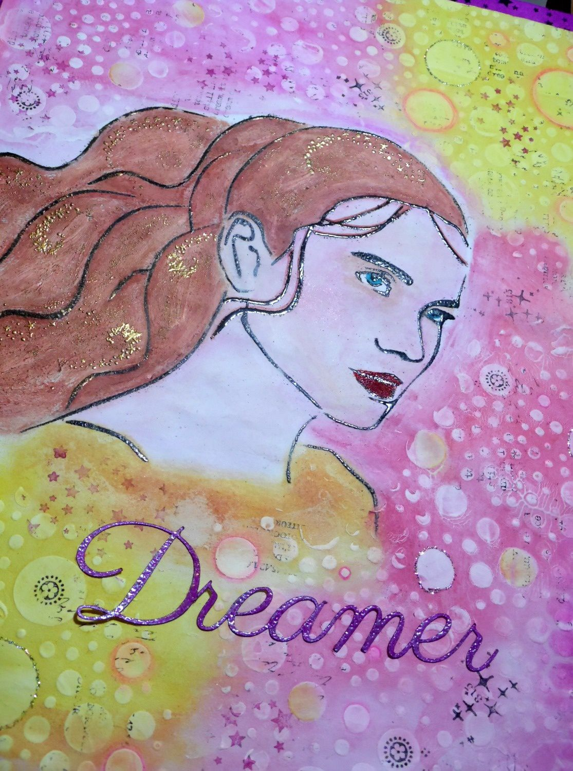 Dreamer:une création mixed media