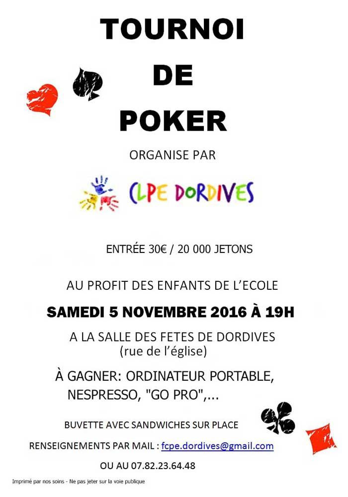 Tournoi de poker à Dordives !!!