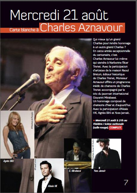 Charles Aznavour à Narbonne