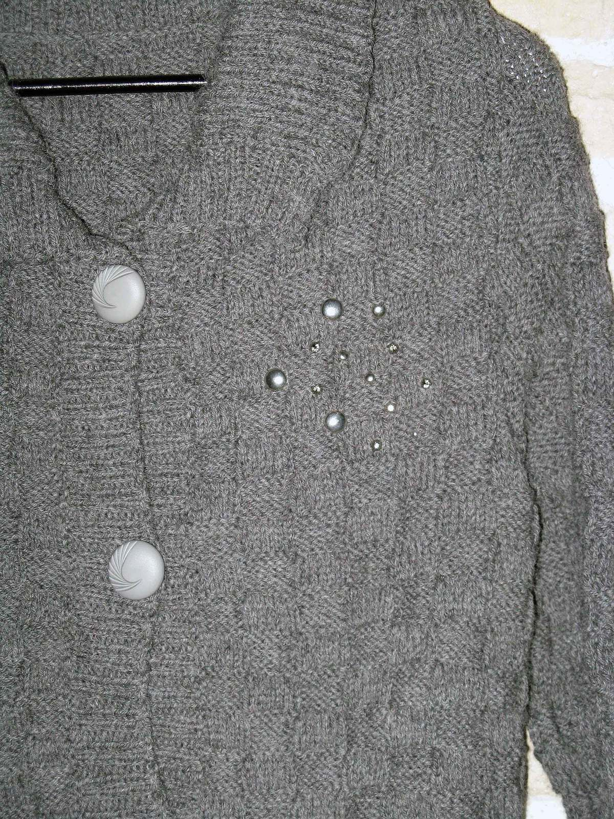 Gilet long anthracite