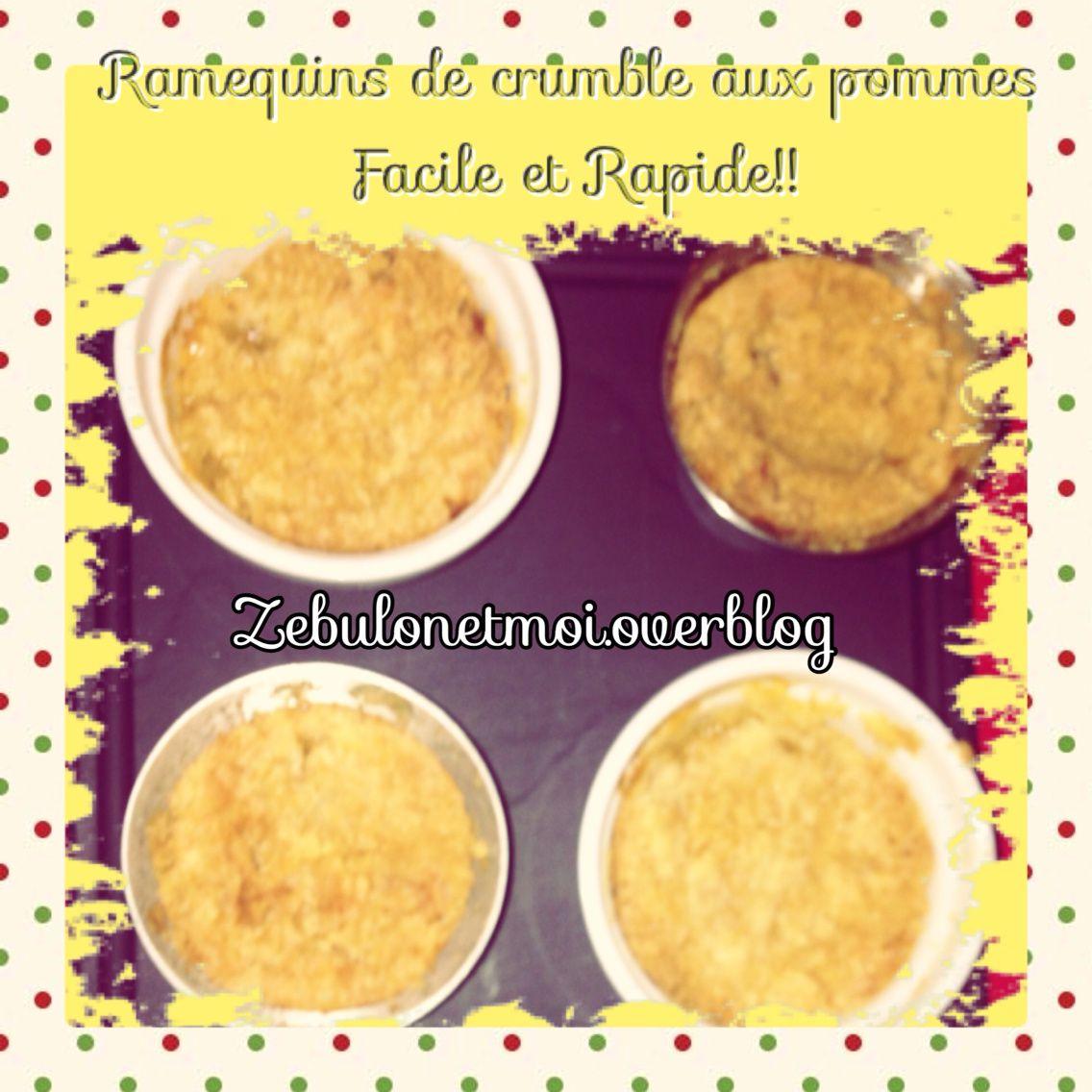 Crumble pommes facile sans poudre d'amandes