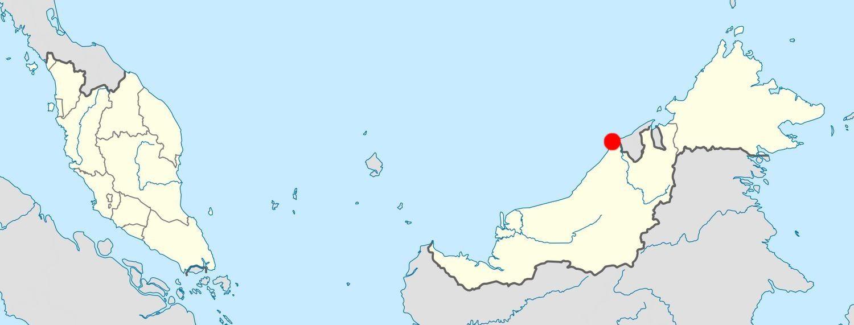Miri, petite ville sans grand intérêt (tourristiquement parlant) située tout au nord de l'État du Sarawak.