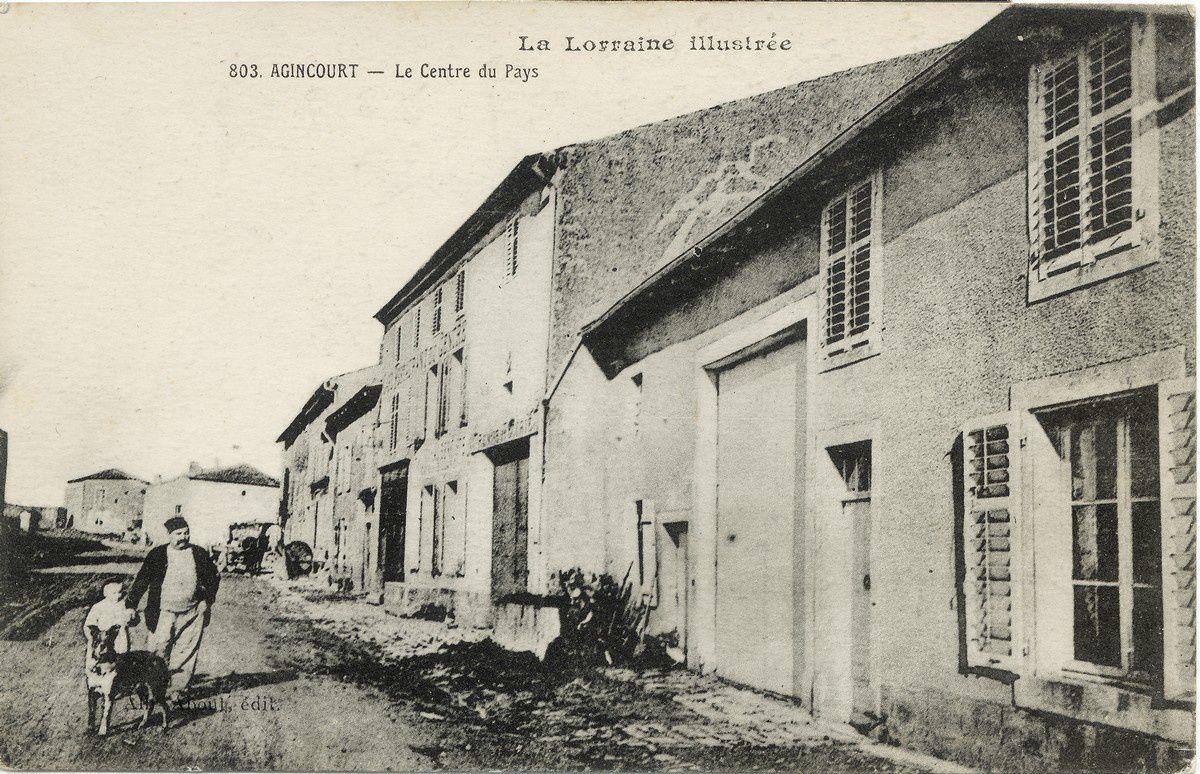 Agincourt : le centre du village