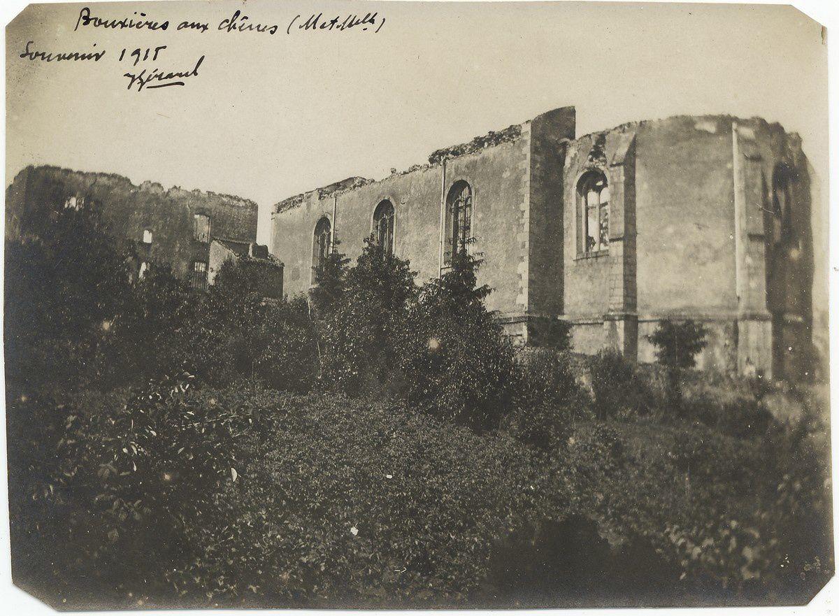 L'église de Bouxières-aux-Chênes en 1915