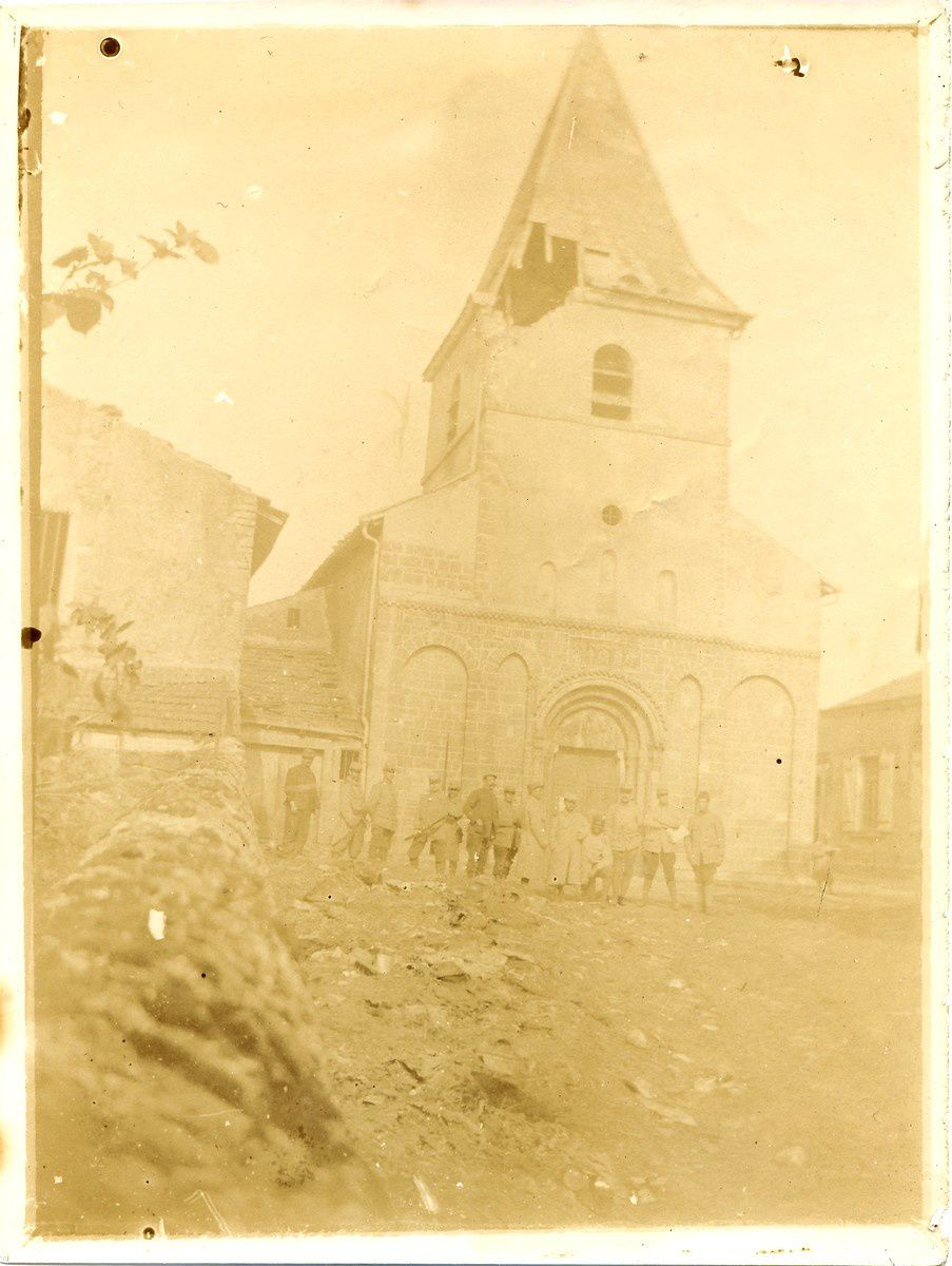 Soldats à Laître-sous-Amance en avril 1915