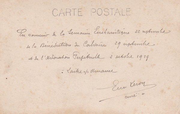 Laître-sous-Amance : l'inauguration du calvaire en 1929