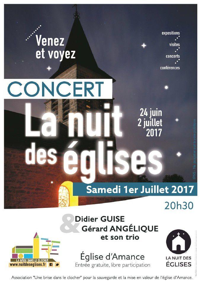Concerts à Amance les 25 juin et 1er juillet 2017
