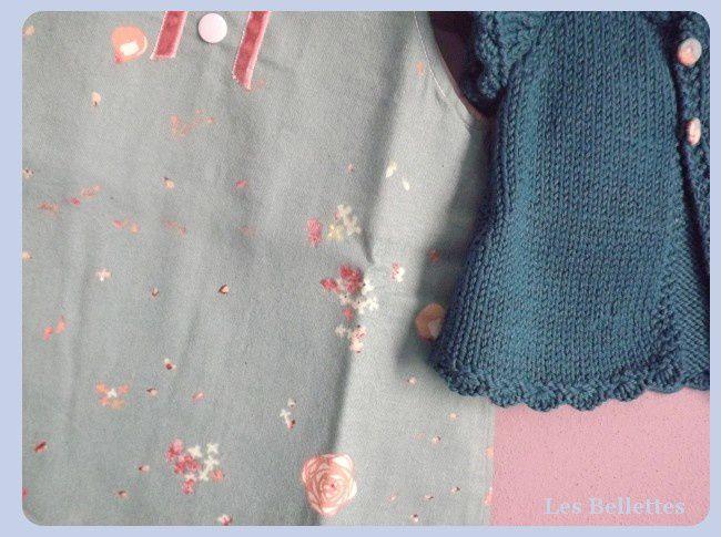 Gilet Baby Liliha de chez Kids tricots, robe trapèze des intemporels en 3 mois,