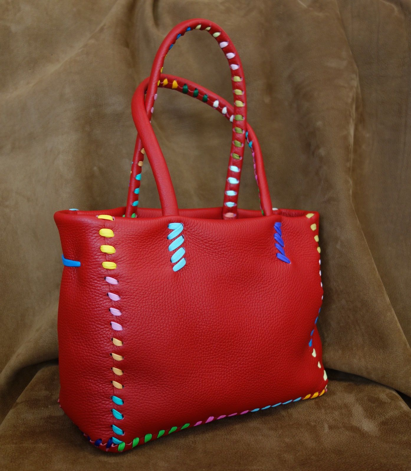 Sac lolotte rouge multicolore