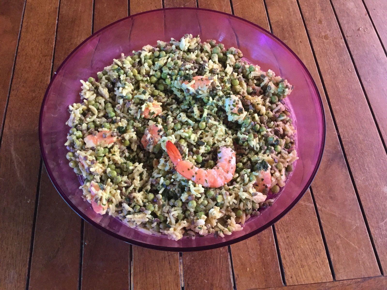 Salade parfumée lait de coco/coriandre
