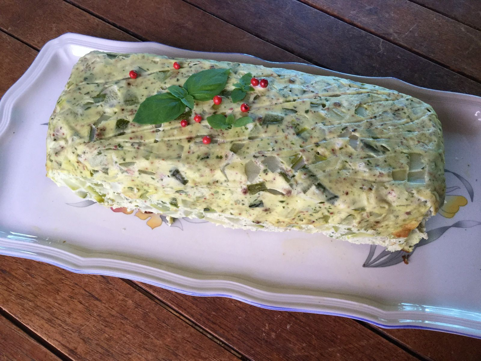 TERRINE DE COURGETTE AUX BAIES ROSES