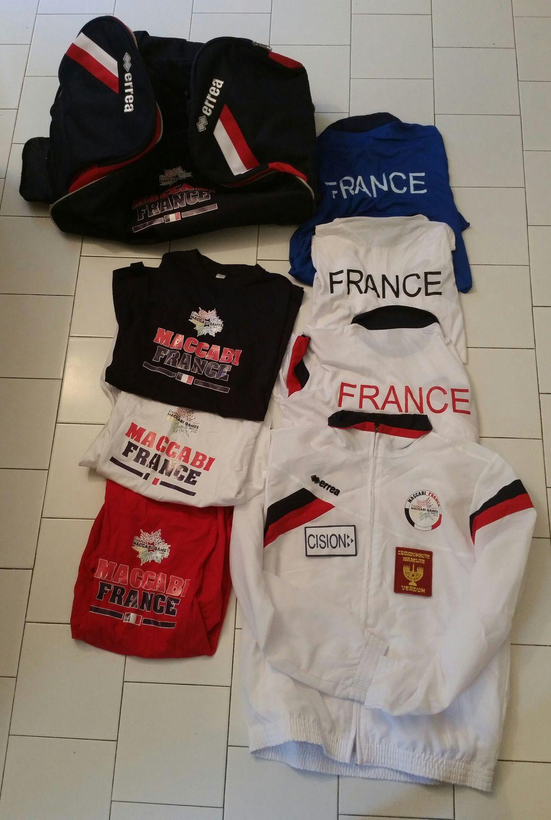 Le paquetage Equipe de France Maccabi pour les EMG 2015