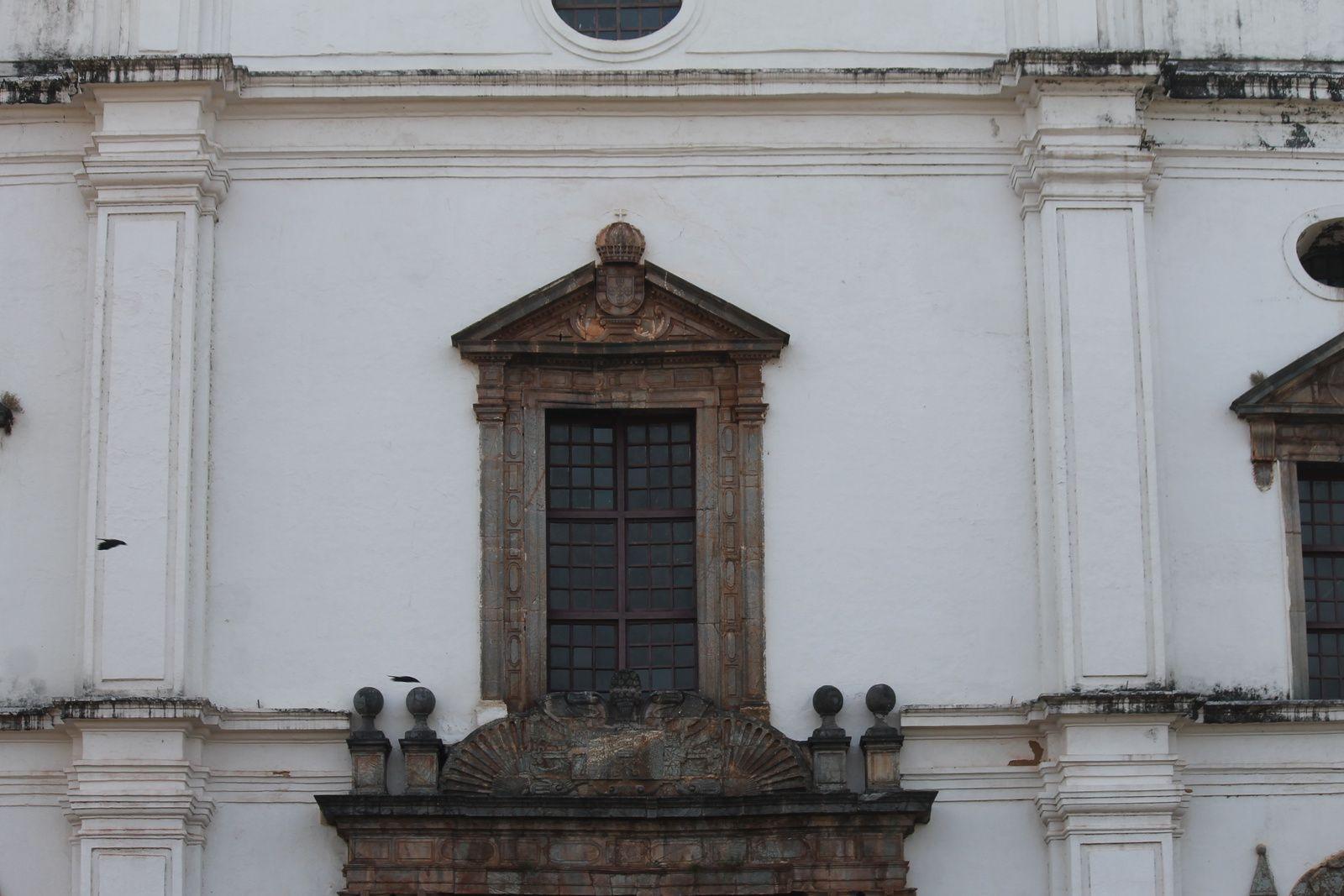 Façade de la cathédrale Sainte Catherine à OLD GOA