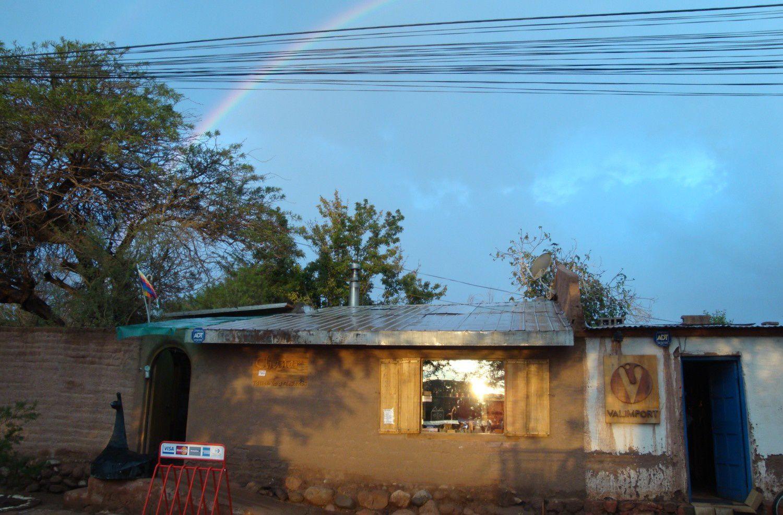 Arc-en-ciel après la pluie, San Pedro d'Atacama en février 2012 (Photo : Eldesiertoflorido).