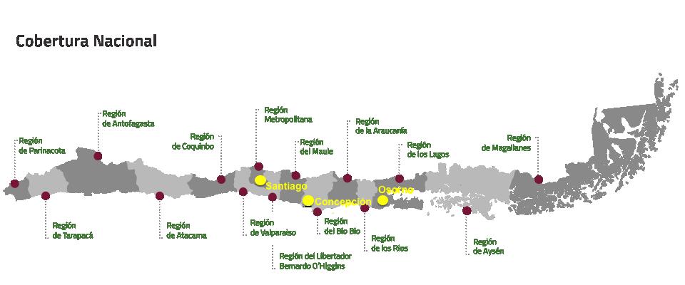 Les bureaux de vote au Chili étaient situés à Santiago, Concepcion et Osorno