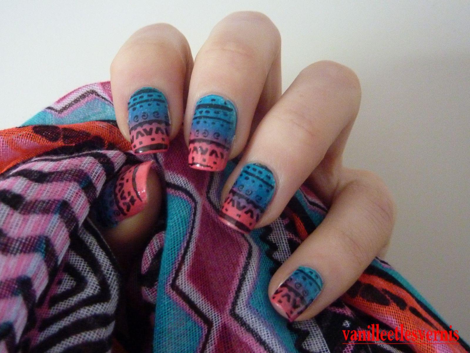 Mes ongles aztèque
