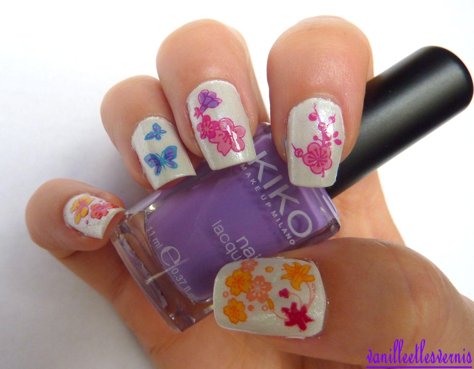 Nail art Bouquet Fleuris