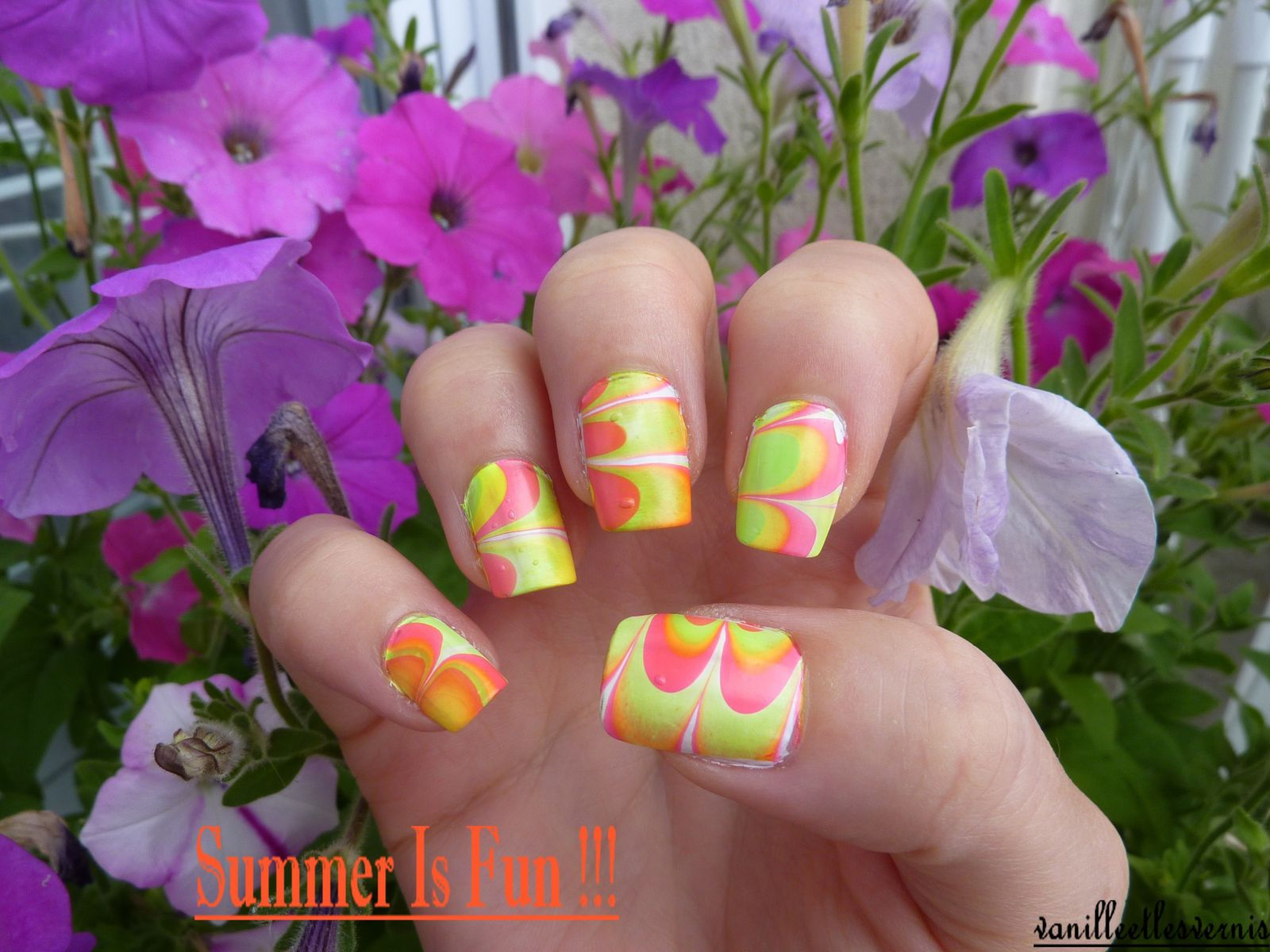 Water Marble Fluo pour Pmabelle