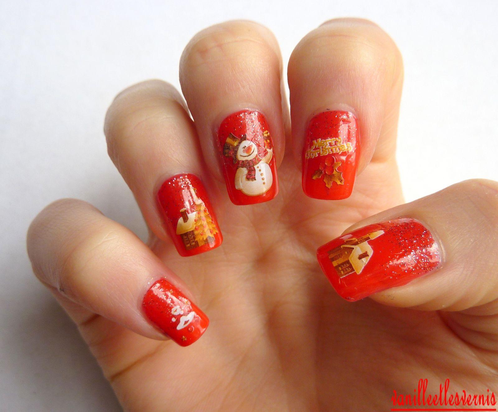 Nail Art spécial Noël!!!