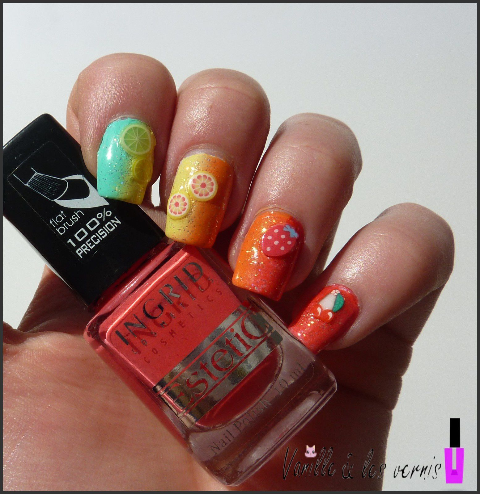 Rainbow, fruits &amp&#x3B; paillettes!! &#x3B;)