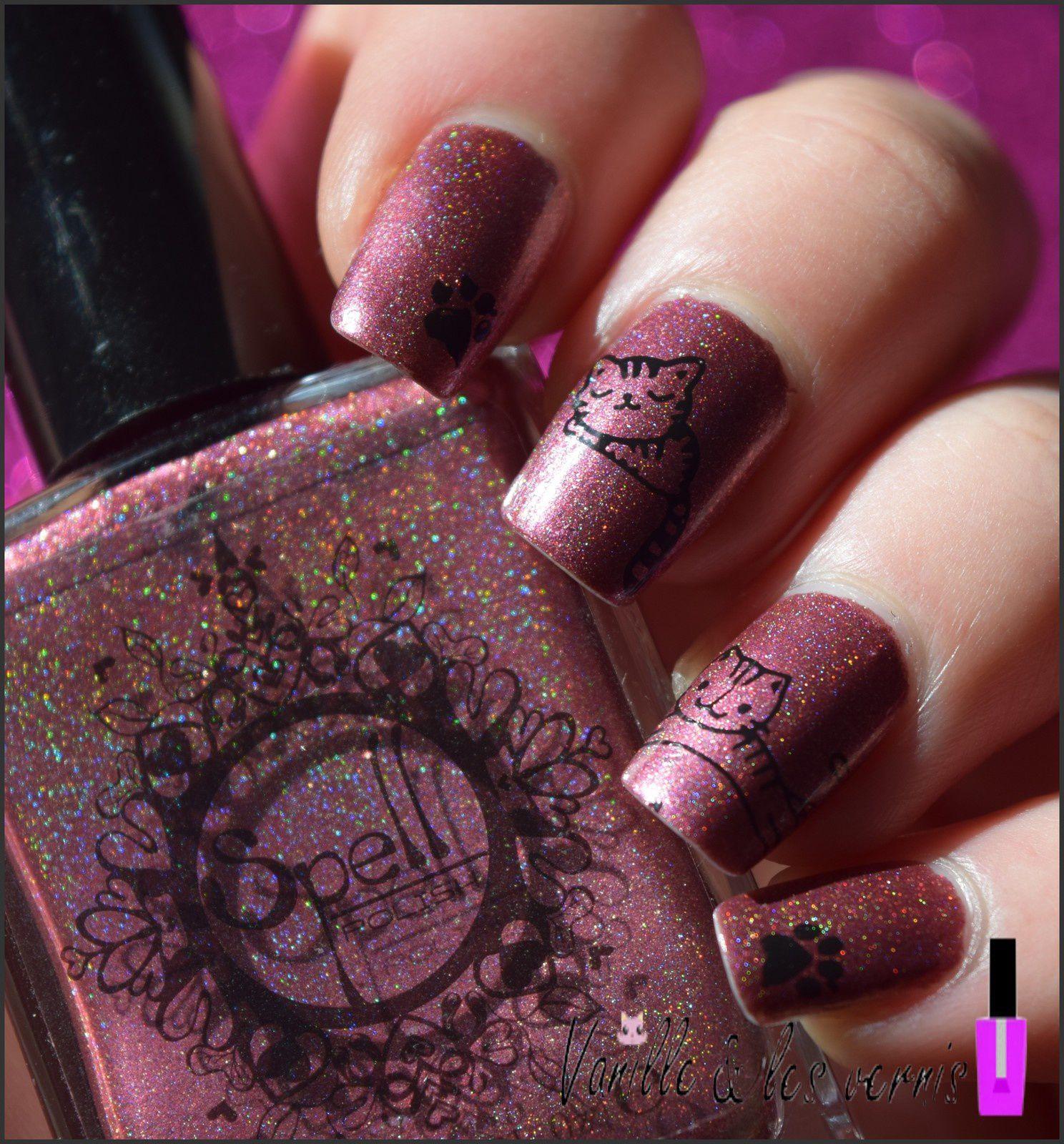Des minis Baya sur mes nails!! &#x3B;)