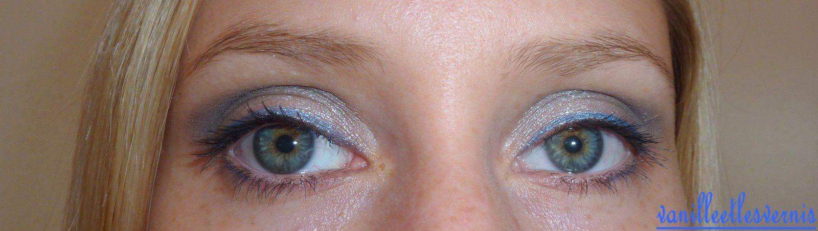 MU en nuances de gris et bleu