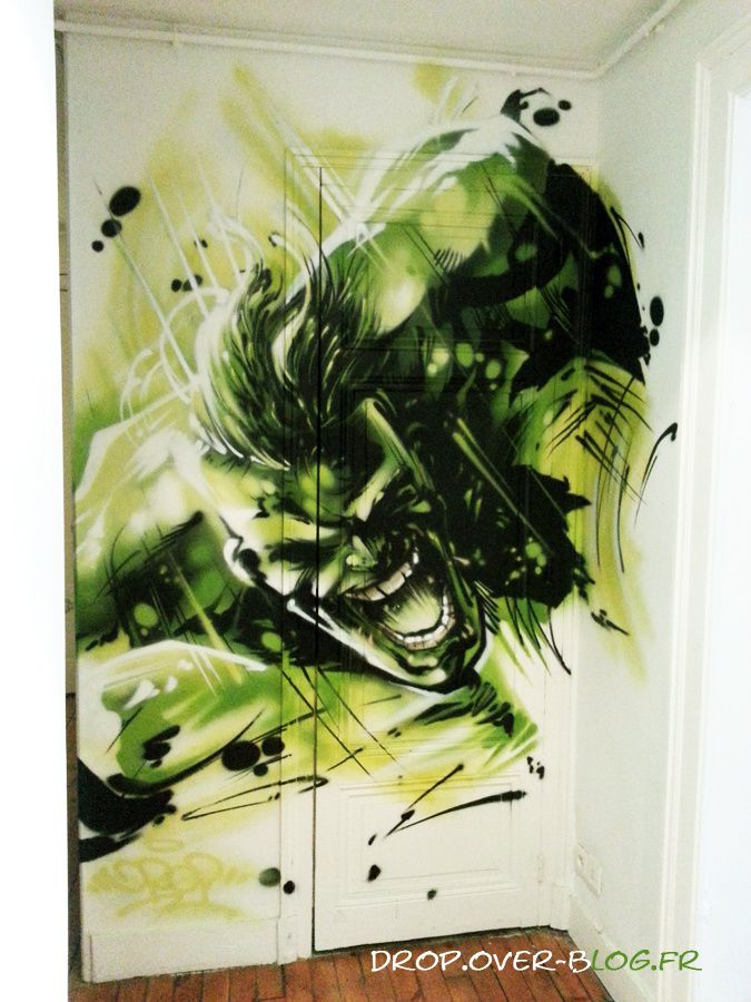 hulk marvel d co graff le blog de drop. Black Bedroom Furniture Sets. Home Design Ideas